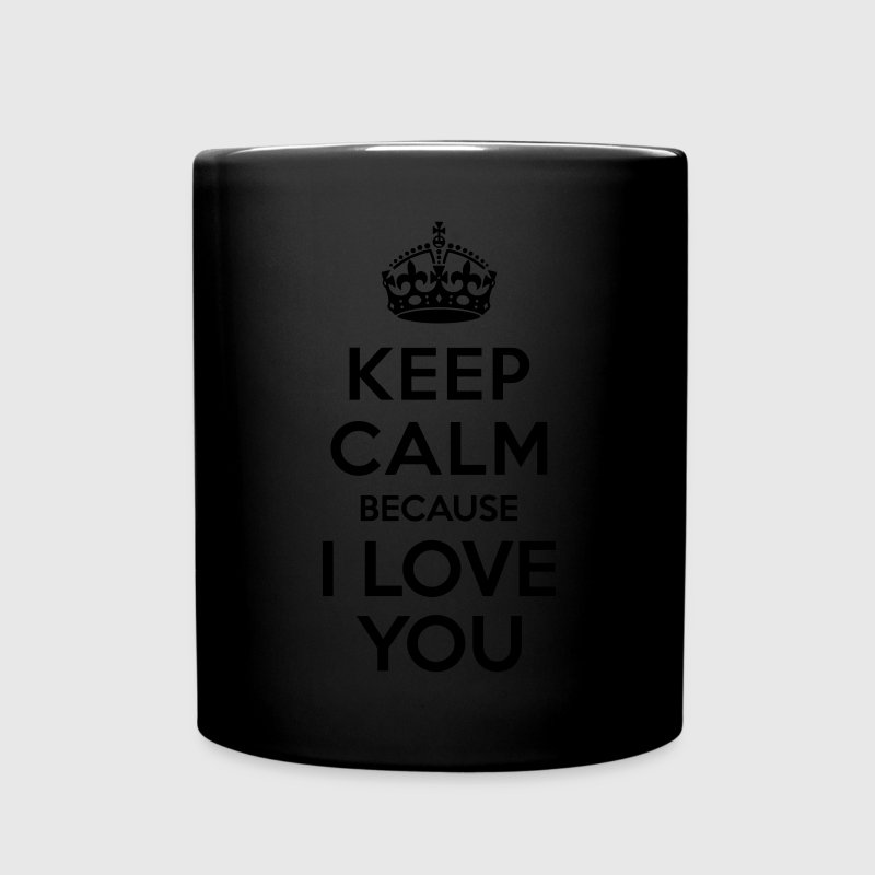 Keep calm I Love you Mugs & Drinkware - Full Color Mug
