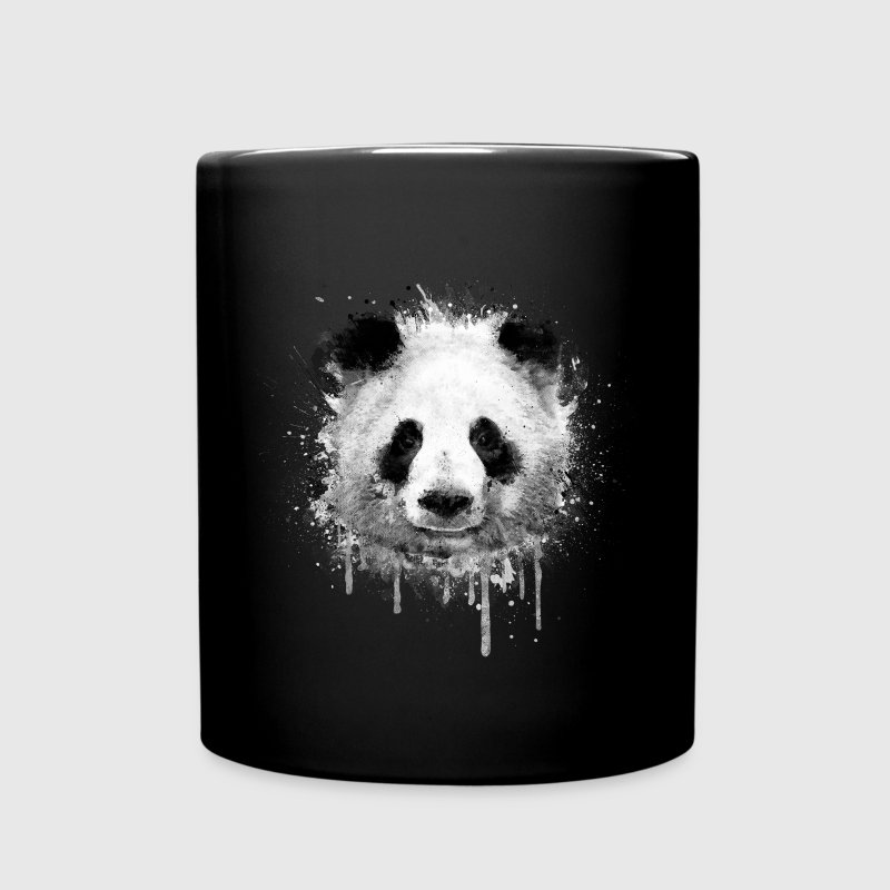 Cool Artistic Panda Portrait (watercolor design) Mugs & Drinkware - Full Color Mug