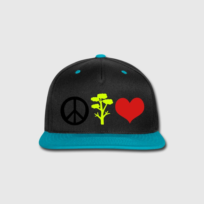 love nature peace Snap-back Baseball Cap - Snap-back Baseball Cap