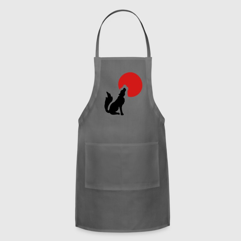 Howling at the moon T-Shirts - Adjustable Apron