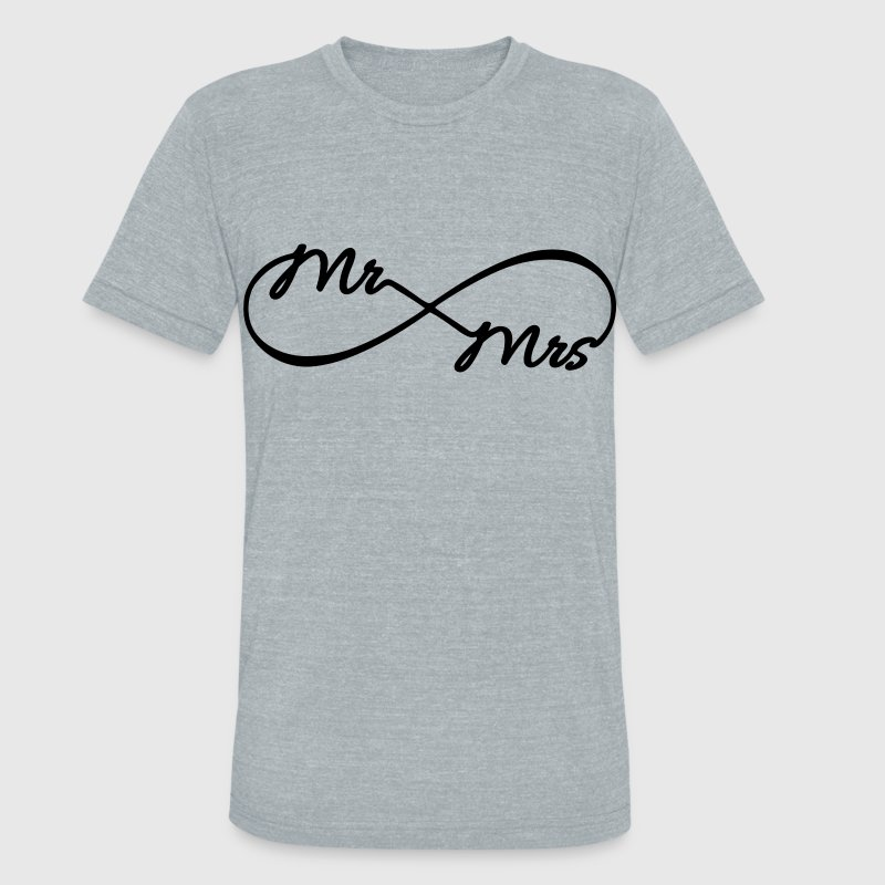 Infinity Mr. and Mrs. - Unisex Tri-Blend T-Shirt by American Apparel