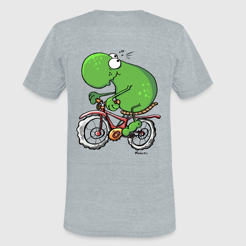 Funny Cycling Tour Frog T-Shirts - Unisex Tri-Blend T-Shirt by American Apparel