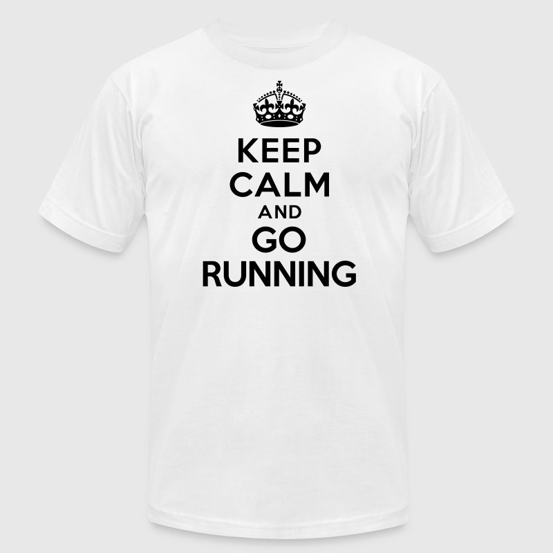 Keep calm and go running T-Shirts - Men's T-Shirt by American Apparel
