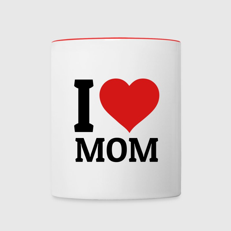 I love Mom Mugs & Drinkware - Contrast Coffee Mug