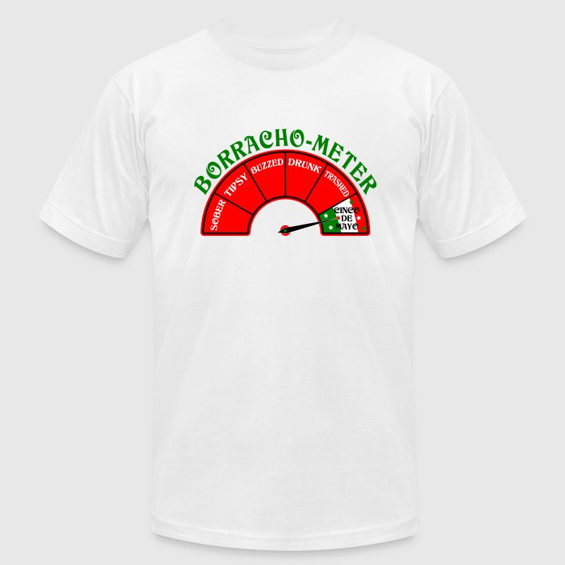 Borracho Drunk Meter Cinco De Mayo design. T-Shirts - Men's T-Shirt by American Apparel