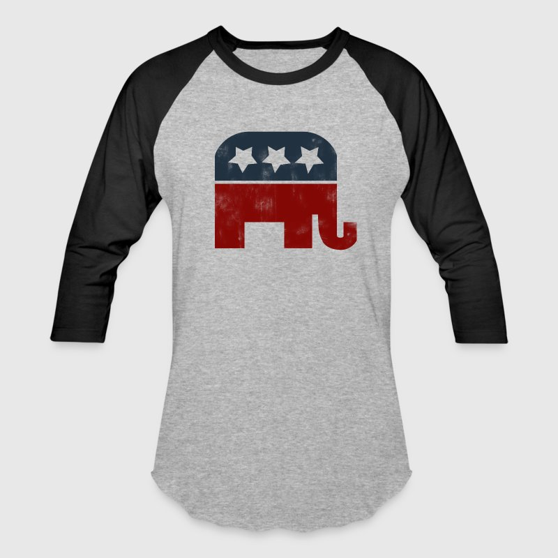 Vintage republican gop elephant logo - Baseball T-Shirt