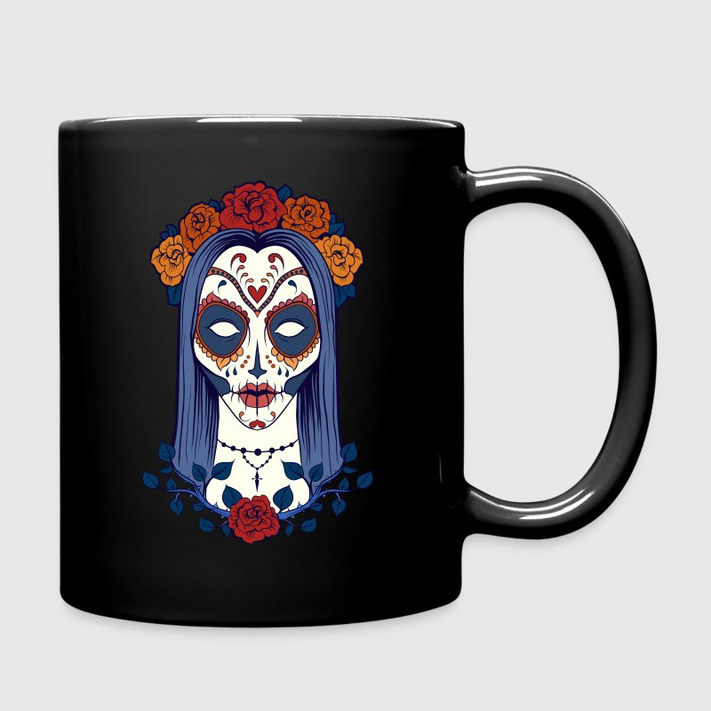 Female Sugar Skull Full Color Mug Spreadshirt