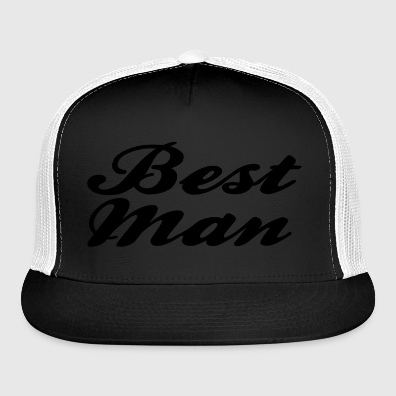 Best Man Script design Caps - Trucker Cap
