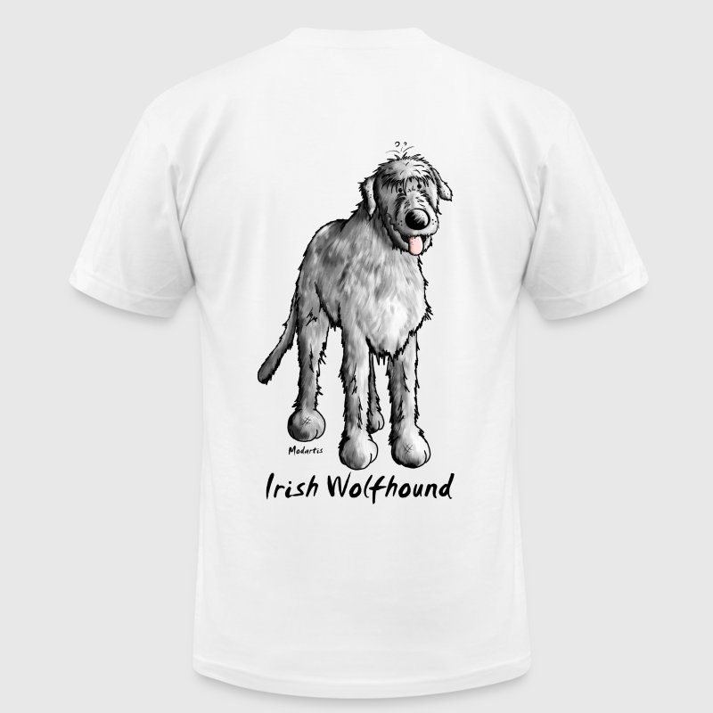 Cute Irish Wolfhound T-Shirts - Men's T-Shirt by American Apparel