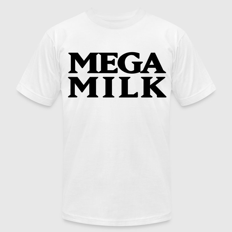 Mega Milk T-Shirts - Men's T-Shirt by American Apparel