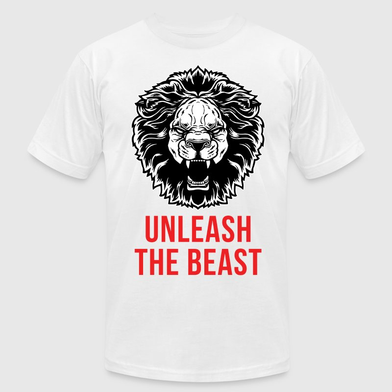 Lion - Unleash The Beast T-Shirts - Men's Fine Jersey T-Shirt