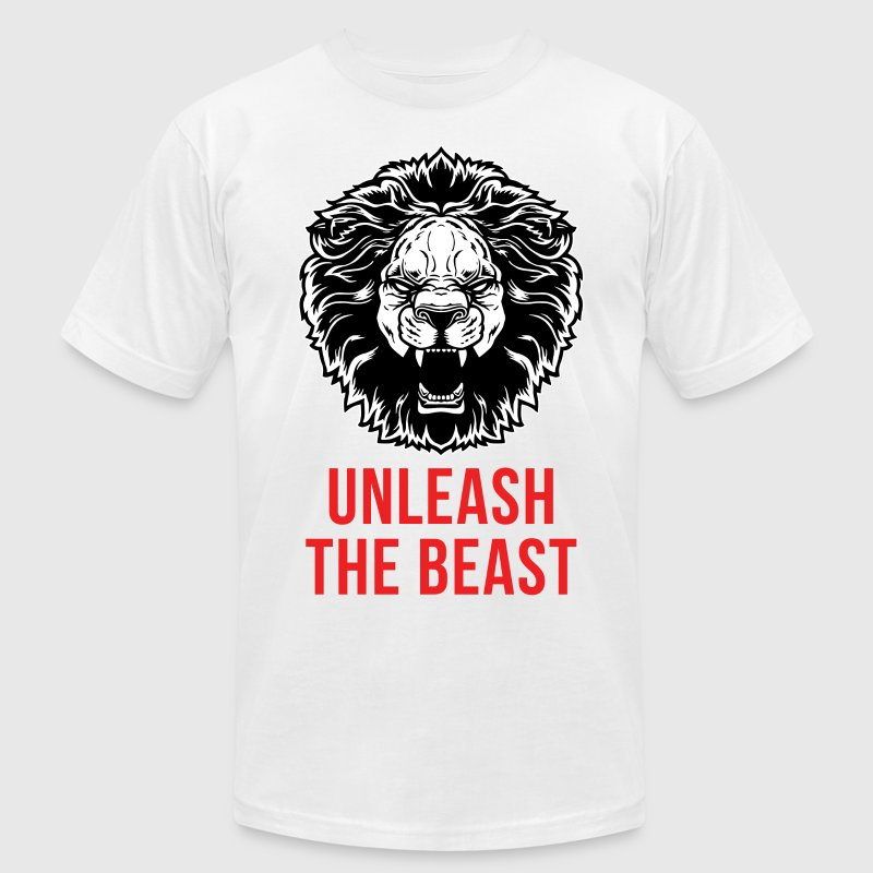 Unleash The Beast - Lion T-Shirts - Men's T-Shirt by American Apparel