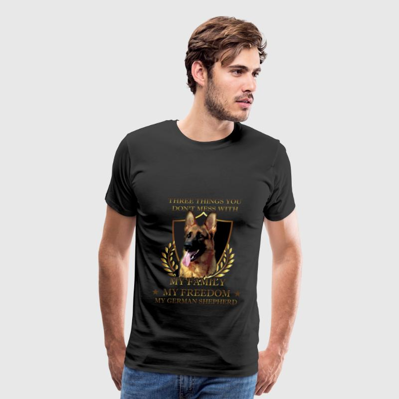German Shepherd T-shirt - Don't mess Shepherd - Men's Premium T-Shirt