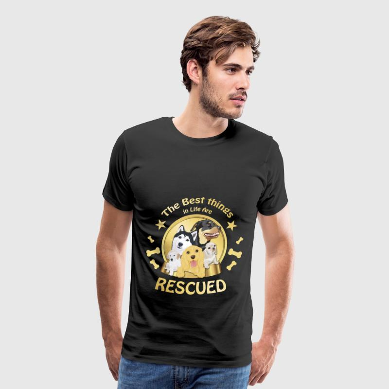 Animal rescue T-shirt - The best things in life - Men's Premium T-Shirt