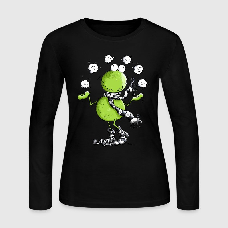 Funny Winter Frog  Long Sleeve Shirts - Women's Long Sleeve Jersey T-Shirt