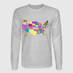United States Map With Capitals And State Names TShirt Spreadshirt - Us map with state names and capitals