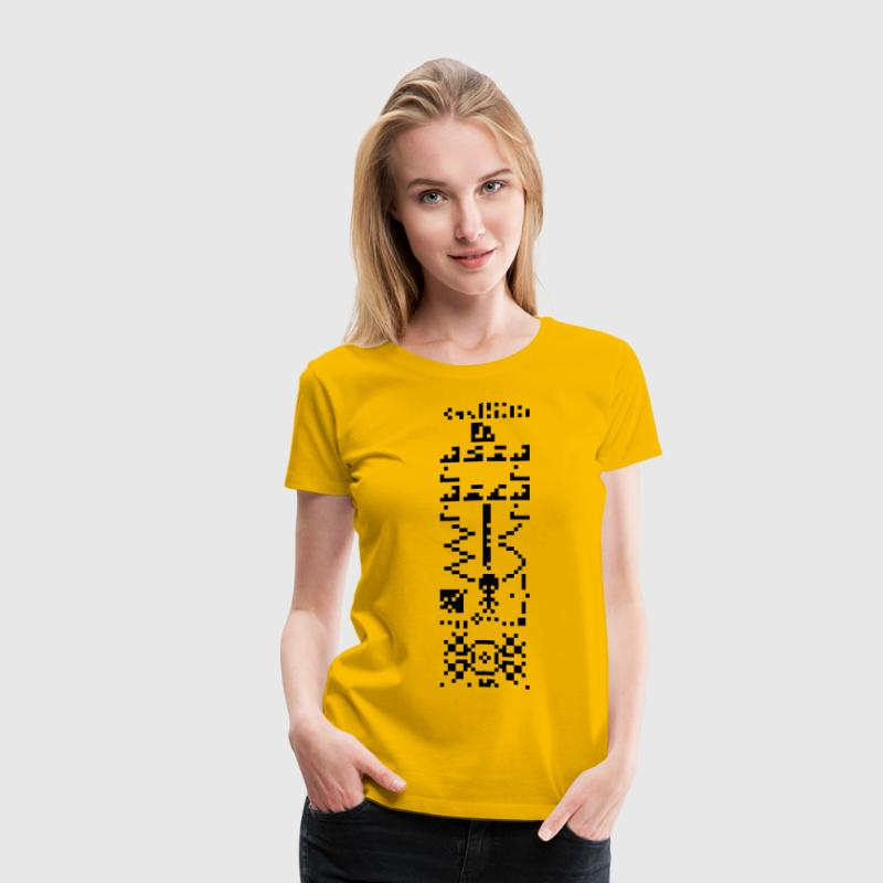 Arecibo Binary Message Answer Reply T-Shirts - Women's Premium T-Shirt