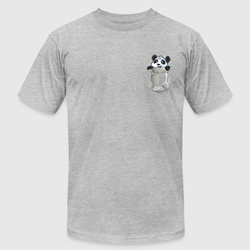 Panda Pocket T-Shirts - Men's T-Shirt by American Apparel