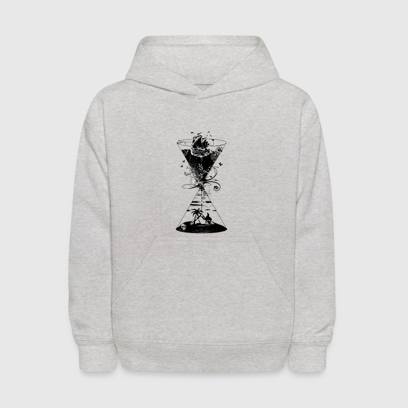 surreal hourglass -ocean and desert- Sweatshirts - Kids' Hoodie