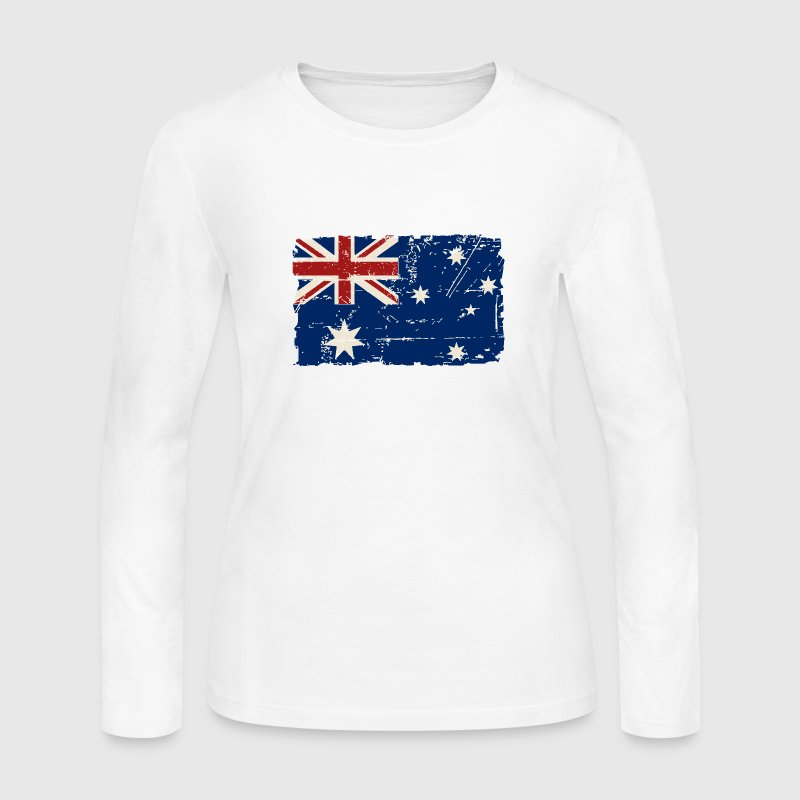 Australia Flag - Vintage Look Long Sleeve Shirts - Women's Long Sleeve Jersey T-Shirt