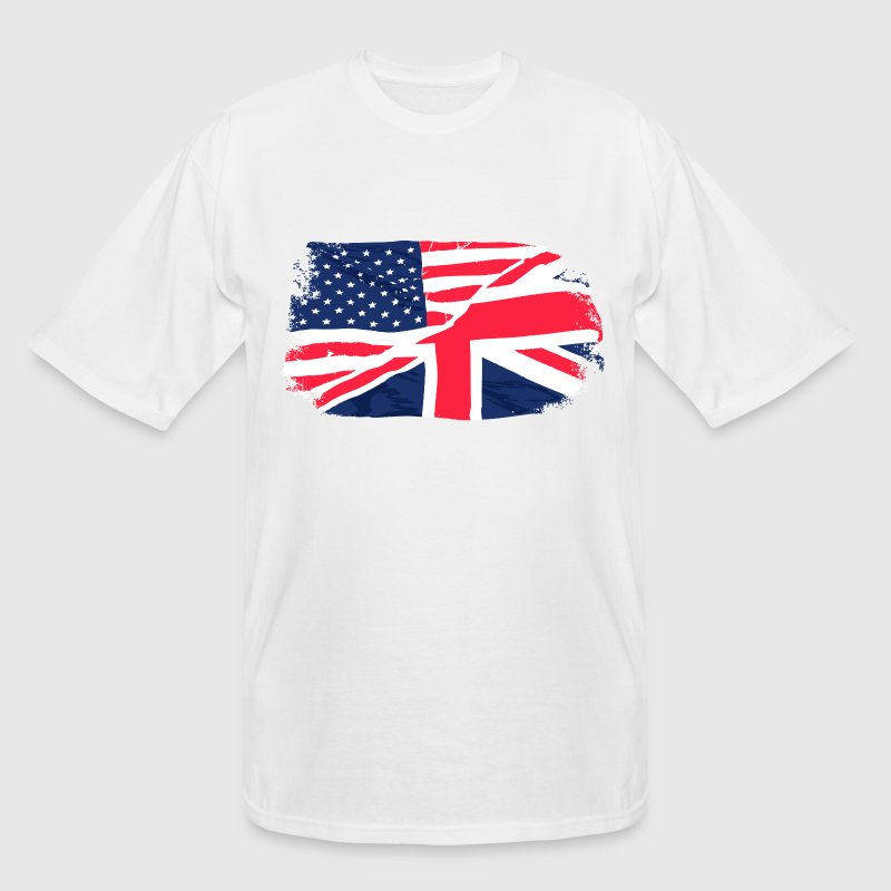 USA - Union Jack Flag - Vintage Look T-Shirts - Men's Tall T-Shirt