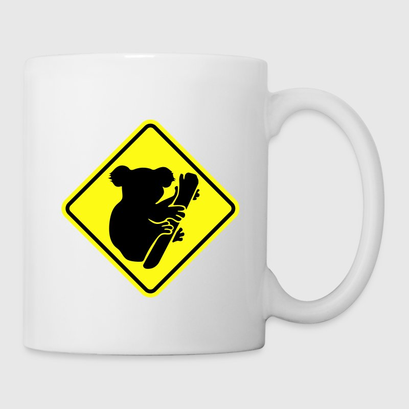 Koala road sign Mugs & Drinkware - Coffee/Tea Mug