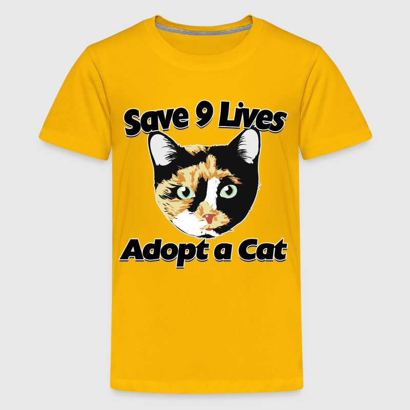 Adopt a cat calico adoption - Kids' Premium T-Shirt