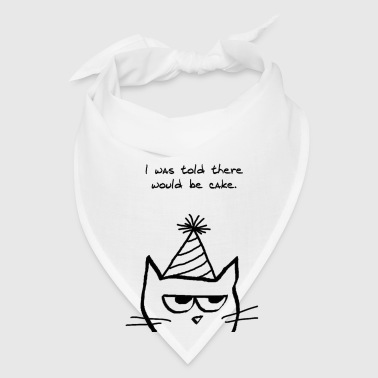 Angry Cat Hates Birthdays - Bandana