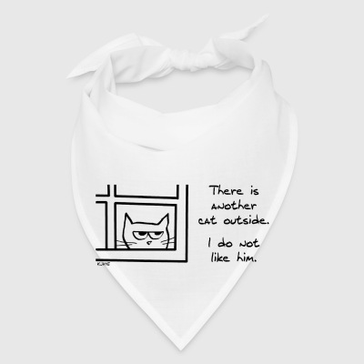 Angry Cat Sees Another Cat - Bandana