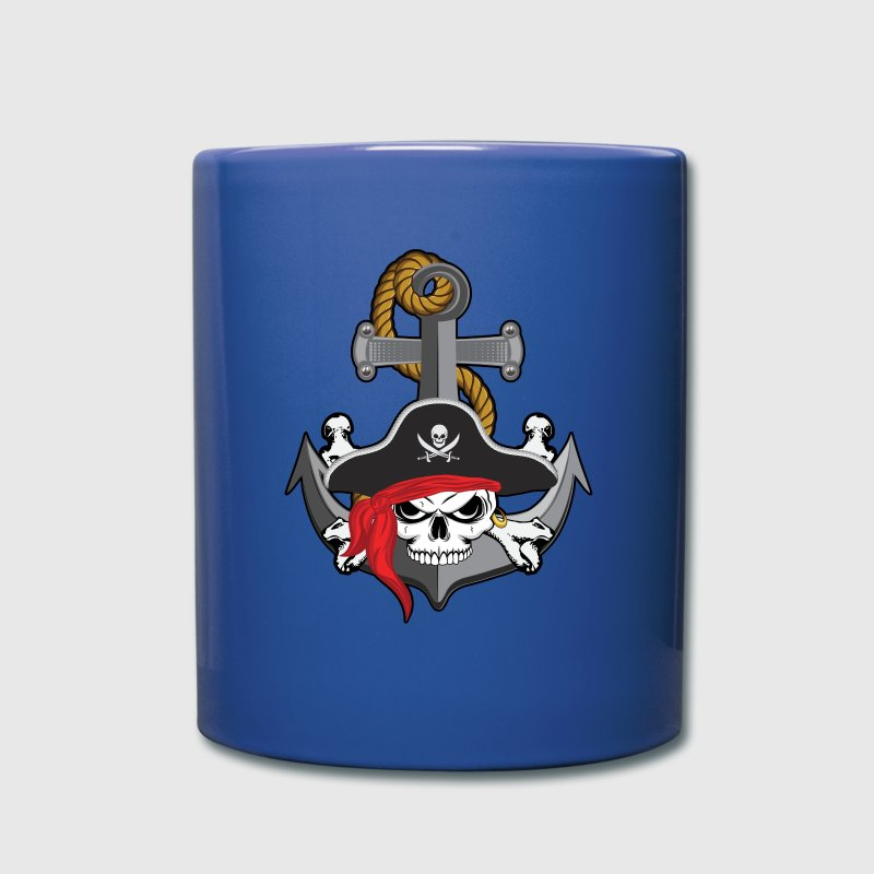 Pirate Skull Anchor Mugs & Drinkware - Full Color Mug