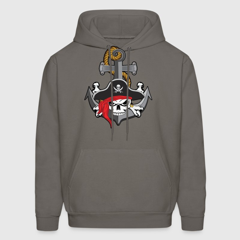Pirate Skull Anchor Hoodies - Men's Hoodie
