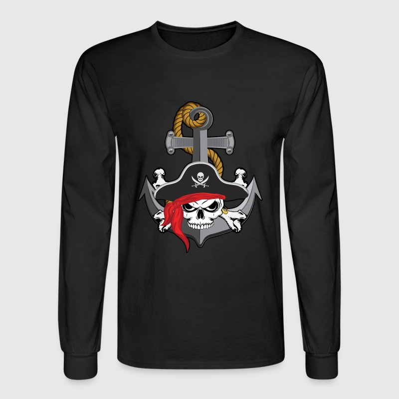 Pirate Skull Anchor Long Sleeve Shirts - Men's Long Sleeve T-Shirt