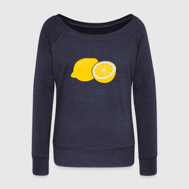 Lemon Long Sleeve Shirts - Women's Wideneck Sweatshirt