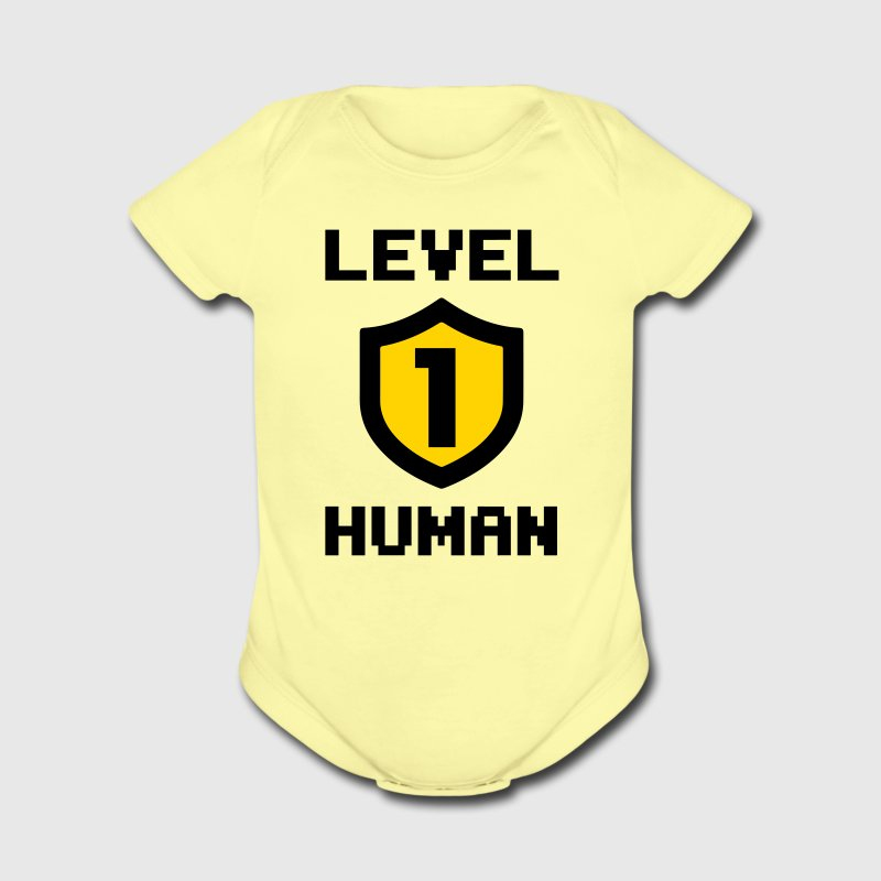 Level 1 human Baby & Toddler Shirts - Short Sleeve Baby Bodysuit