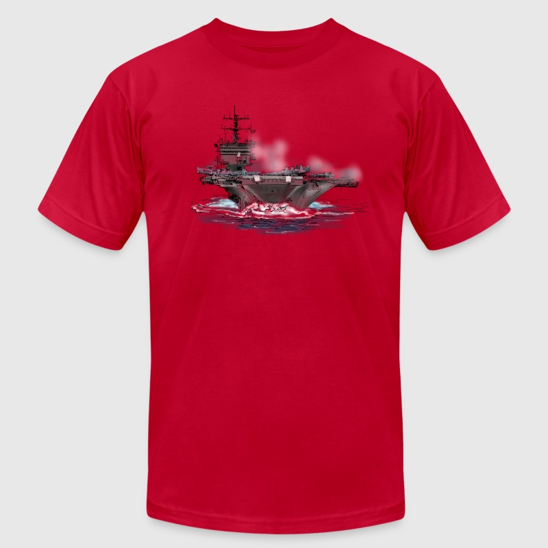 aircraft carrier T-Shirts - Men's T-Shirt by American Apparel