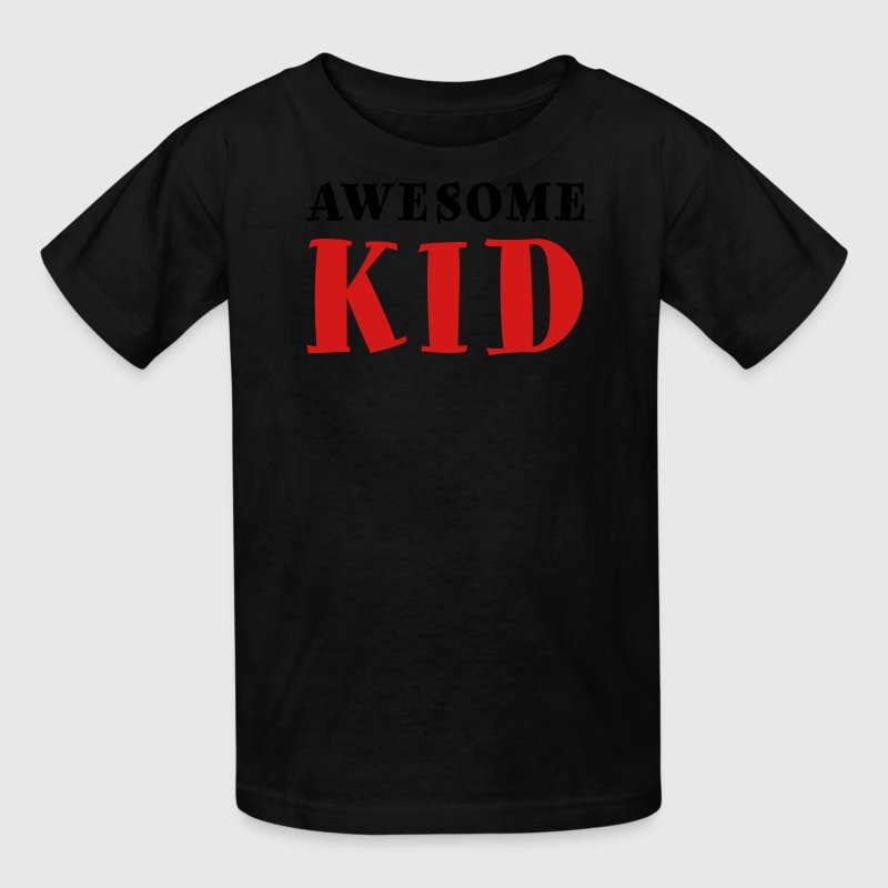 Awesome Kid Youth Shirt - White & Metallic Silver  - Kids' T-Shirt