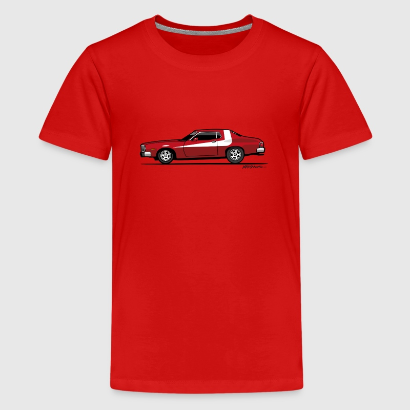 Gran Torino Striped Tomato Red Undercover Cop Car Kids' Shirts - Kids' Premium T-Shirt