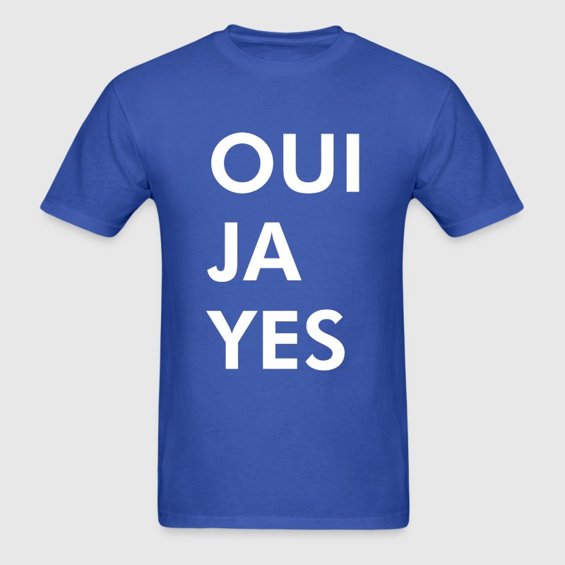 Oui Ja Yes - Men's T-Shirt