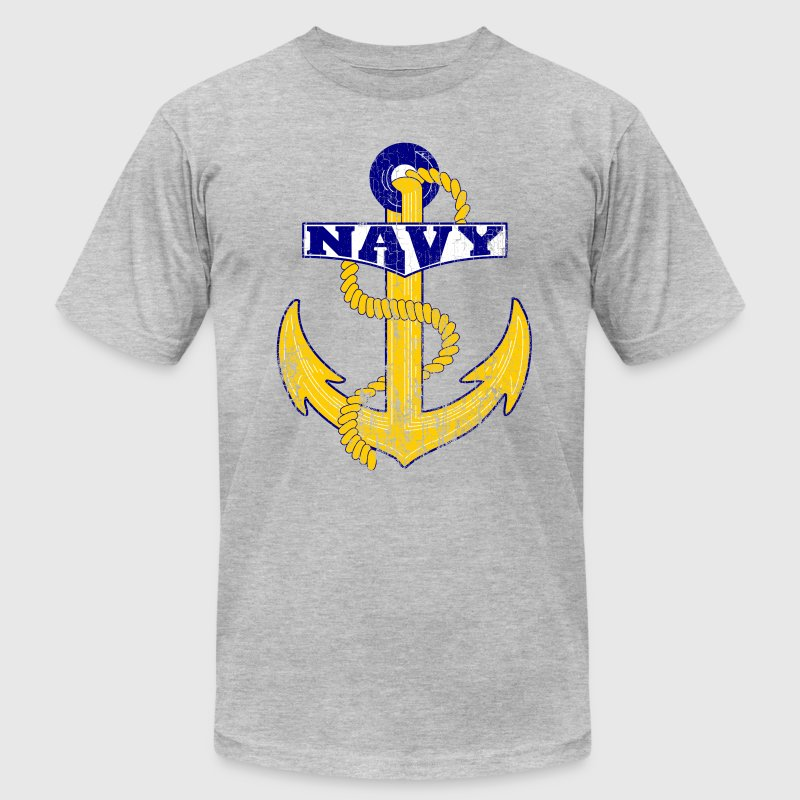 Vintage Navy Anchor T-Shirts - Men's T-Shirt by American Apparel