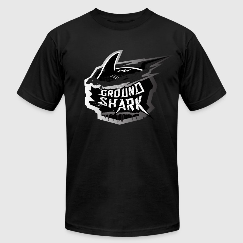 Ground Shark Jiu Jitsu T-Shirts - Men's T-Shirt by American Apparel