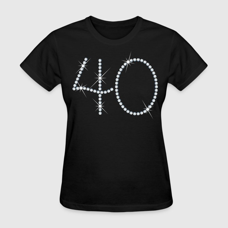Faux Rhinestone 40th Birthday Women's T-Shirts - Women's T-Shirt