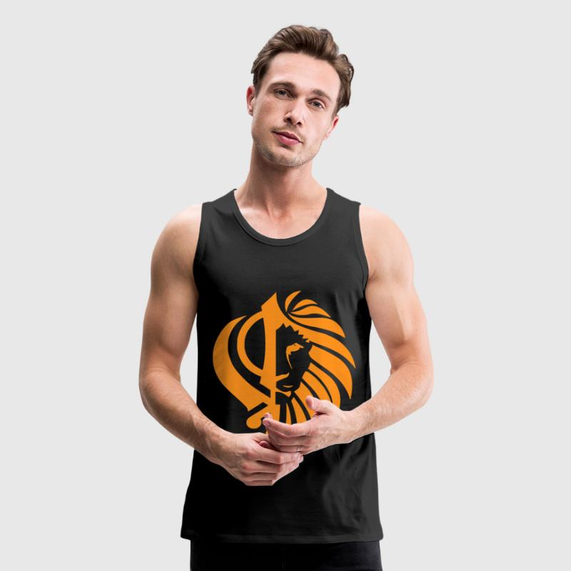 lion / khanda Tank Tops - Men's Premium Tank
