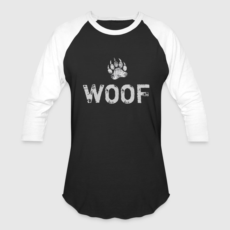 Gay Bear Pride distressed Bear Paw WOOF - Baseball T-Shirt