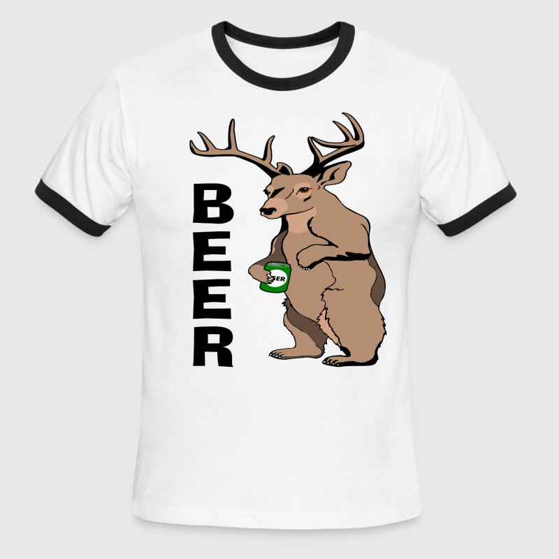 Bear Deer Beer T-Shirt T-Shirts - Men's Ringer T-Shirt