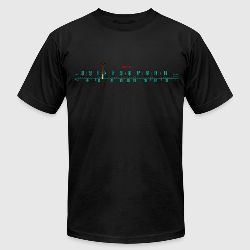 Vintage Stereo Tuner Dial - Men's T-Shirt by American Apparel