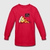 Funny Cartoon Pizza - Statement / Funny / Quote Kids' Shirts - Kids' Long Sleeve T-Shirt