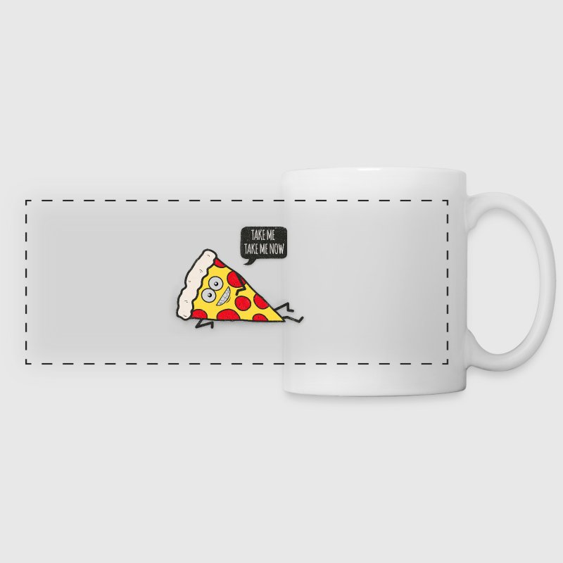 Funny Cartoon Pizza - Statement / Funny / Quote Accessories - Panoramic Mug