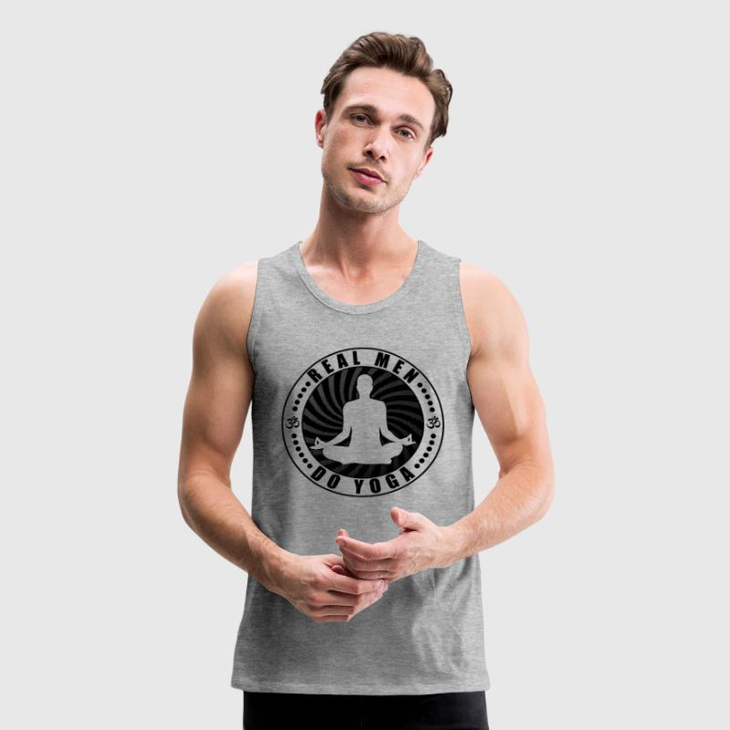 Real Men Do Yoga T-Shirt Tank Tops - Men's Premium Tank