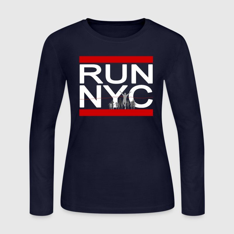 Run NYC New York Running Long Sleeve Shirts - Women's Long Sleeve Jersey T-Shirt