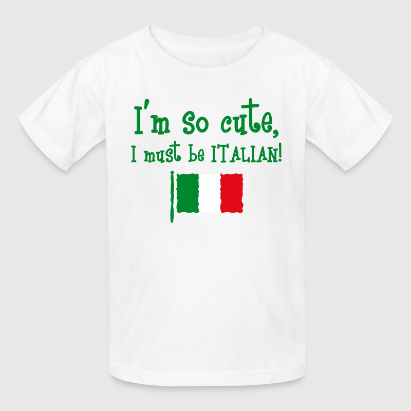 So Cute Italian Kids' Shirts - Kids' T-Shirt